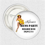 Hens Party favours personalised 10 badge pack