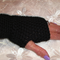 Crochet Mittens, Crochet Fingerless Mittens, Black Crochet Mittens, Gloves