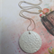 White Polymer Swirl Disk Necklace