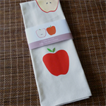 Tea towel - red apples