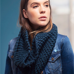 Chunky cowl royal blue cream, black or brown moëbius scarf cowls scarves