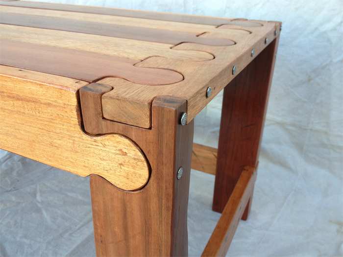 Recycled Hardwood; Jigsaw Puzzle Coffee Table. Make The Puzzle Then Use It.