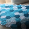 Crochet Hexie Baby Blanket in Blues