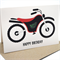 Happy Birthday Card - Boy - Red and Black Motorbike - HBC087