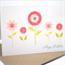 Happy Birthday Card - Female - 5 Pink Flowers and Stems - HBF069