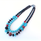 Eclectic Turquoise double strand necklace
