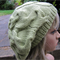 Slouchy Cable Beret