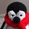 Mr or Mrs P.: Crocheted penguin by CuddleCorner: OOAK, unisex toy, Christmas