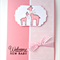 Baby Girl Card - Giraffe