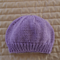 Size 1-2 yrs hand knitted beanie in purple : OOAK, washable, affordable