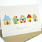 Moving House Card - 5 Houses with Bird & Flower - MOV006