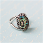 Statement ring. Vintage Jewel. Paisley. Silver.