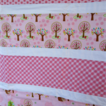 Girls Pink Cot/Toddler Bed Quilt Blanket - Forest Animals