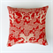 The Birds Cushion Cover in Crimson Red and Ecru