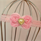 Pink Bow Headband, size 6 months - 3 yrs