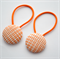 Button Hair Ties - orange