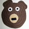 Child's Bear washcloth or placemat