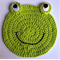 Child's Frog washcloth or placemat
