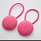 Button Hair Ties - dark pink