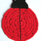 Child's Lady Beetle washcloth or placemat