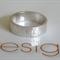 Handmade- patterned organic- sterling silver 5mm Ring
