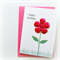birthday card for her hot pink  fabric flower