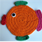 Child's Fish washcloth or placemat