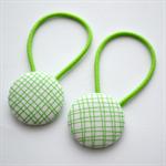 Button Hair Ties - green