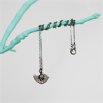 BLACKBIRD Necklace - Bird Charm Necklace - Gunmetal plated with Peacock Pearl