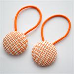 Button Hair Ties - orange