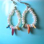 Dainty Sterling Silver Keishi Pearl Earrings
