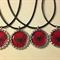 SET OF 4 SPIDERMAN bottlecap necklaces