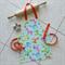 Kids/Toddlers  Reversible Apron orange - Sweet Treats kitchen/craft/play apron