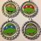 SET OF 4 TEENAGE MUTANT NINJA TURTLES bottlecap necklaces