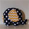 Large Elephant Softie - Navy Dot & Yellow Chevron Elephant
