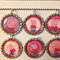 SET OF 6 PEPPA PIG bottlecap necklaces