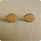 Cloud stud earrings - Quirky eco jewelry by One Happy Leaf on Etsy