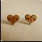 """Wooden earrings studs women jewelry eco friendly """"you & me"""" Italian love hearts"""