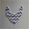 Bandana Dribble Bib - Grey Chevron