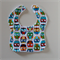 Baby & Toddler Bib - Bright Owls on White