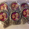 "SET OF 6 DISNEY FROZEN ""SISTERS"" CHARACTER bottlecap necklaces"