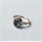 Sapphire Blue Vintage Swarovski Crystal Ring