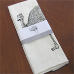 Tea towel - screen printed emu