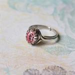 Light Rose Vintage Swarovski Crystal Ring