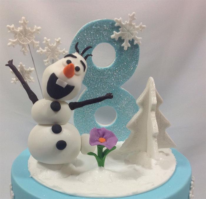 OLAF Edible Sugar Cake TopperFROZEN Birthday