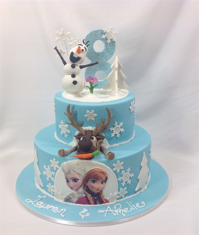 FROZEN Birthday OLAF Edible Sugar Cake Topper
