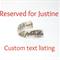 Custom Manu Scriptum wrap ring for Justine