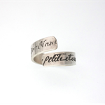 Manu Scriptum wrap ring
