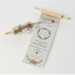 Floral rolling pin invitation- Bridal Shower - Kitchen Tea - Weddings