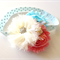 Sweet Pastel Baby Headband Girls Headband Flower Girl Photo Prop